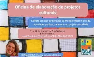 Oficina de elaboração de projetos culturais jan18